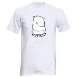 Чоловіча спортивна футболка Free hugs bear