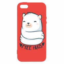 Чохол для iphone 5/5S/SE Free hugs bear