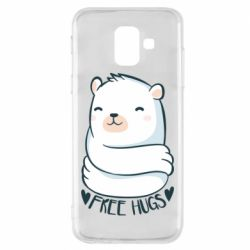 Чохол для Samsung A6 2018 Free hugs bear
