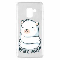 Чохол для Samsung A8 2018 Free hugs bear
