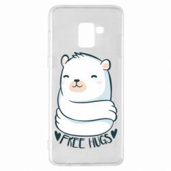 Чохол для Samsung A8+ 2018 Free hugs bear