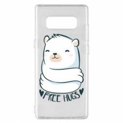 Чохол для Samsung Note 8 Free hugs bear