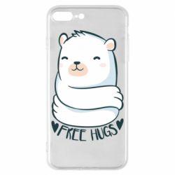 Чохол для iPhone 8 Plus Free hugs bear