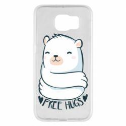 Чохол для Samsung S6 Free hugs bear