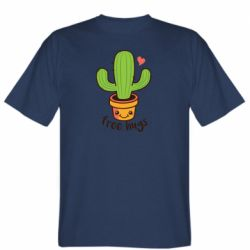 Чоловіча футболка Free Hugs Cactus