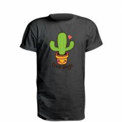 Подовжена футболка Free Hugs Cactus