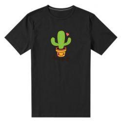 Мужская стрейчевая футболка Free Hugs Cactus
