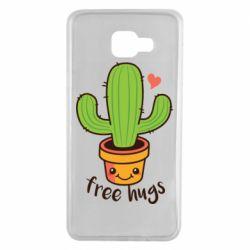 Чехол для Samsung A7 2016 Free Hugs Cactus
