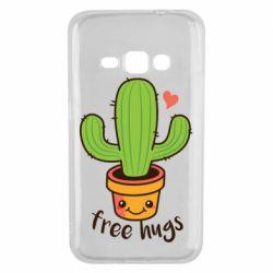 Чехол для Samsung J1 2016 Free Hugs Cactus