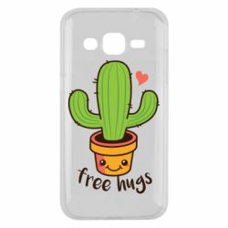 Чехол для Samsung J2 2015 Free Hugs Cactus