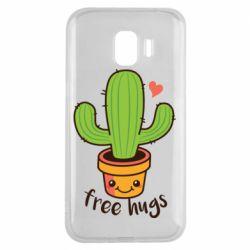 Чехол для Samsung J2 2018 Free Hugs Cactus