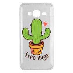 Чехол для Samsung J3 2016 Free Hugs Cactus