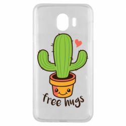 Чехол для Samsung J4 Free Hugs Cactus