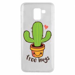 Чехол для Samsung J6 Free Hugs Cactus