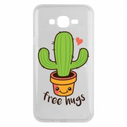 Чехол для Samsung J7 2015 Free Hugs Cactus
