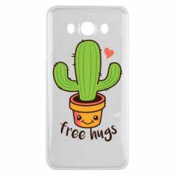 Чехол для Samsung J7 2016 Free Hugs Cactus