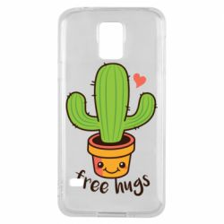 Чохол для Samsung S5 Free Hugs Cactus