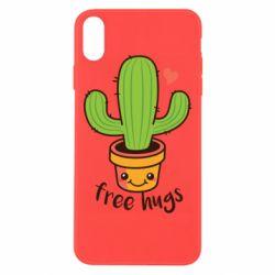 Чохол для iPhone Xs Max Free Hugs Cactus