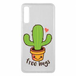 Чехол для Samsung A7 2018 Free Hugs Cactus