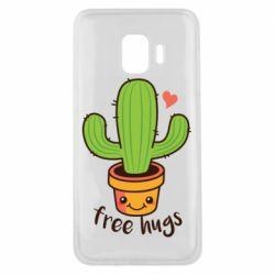Чохол для Samsung J2 Core Free Hugs Cactus