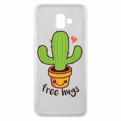 Чохол для Samsung J6 Plus 2018 Free Hugs Cactus