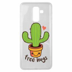 Чехол для Samsung J8 2018 Free Hugs Cactus