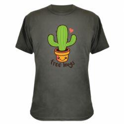 Камуфляжна футболка Free Hugs Cactus