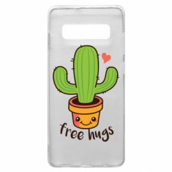 Чохол для Samsung S10+ Free Hugs Cactus