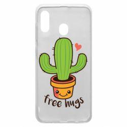 Чехол для Samsung A30 Free Hugs Cactus