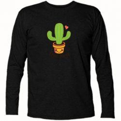 Футболка с длинным рукавом Free Hugs Cactus