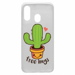 Чехол для Samsung A40 Free Hugs Cactus