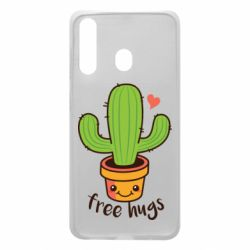 Чехол для Samsung A60 Free Hugs Cactus
