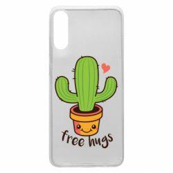 Чехол для Samsung A70 Free Hugs Cactus