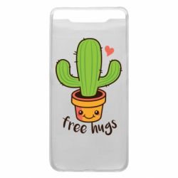 Чехол для Samsung A80 Free Hugs Cactus