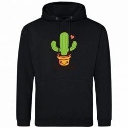 Мужская толстовка Free Hugs Cactus