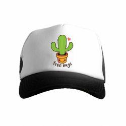 Дитяча кепка-тракер Free Hugs Cactus