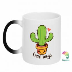 Кружка-хамелеон Free Hugs Cactus