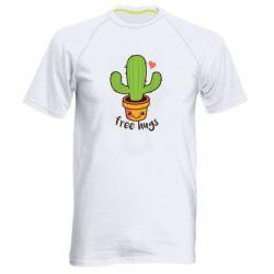 Чоловіча спортивна футболка Free Hugs Cactus