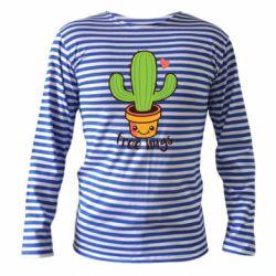 Тельняшка с длинным рукавом Free Hugs Cactus