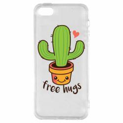 Чохол для iphone 5/5S/SE Free Hugs Cactus