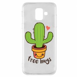Чехол для Samsung A6 2018 Free Hugs Cactus