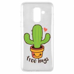 Чехол для Samsung A6+ 2018 Free Hugs Cactus