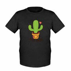 Дитяча футболка Free Hugs Cactus