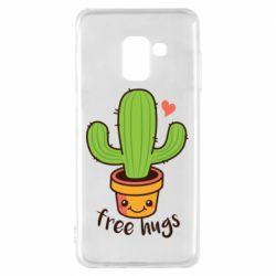 Чехол для Samsung A8 2018 Free Hugs Cactus