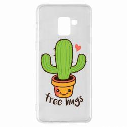 Чехол для Samsung A8+ 2018 Free Hugs Cactus