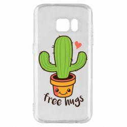 Чохол для Samsung S7 Free Hugs Cactus
