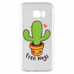 Чохол для Samsung S7 EDGE Free Hugs Cactus