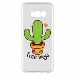 Чохол для Samsung S8 Free Hugs Cactus