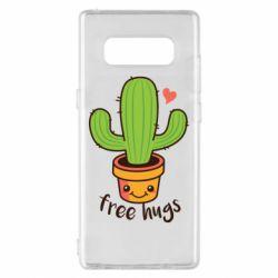 Чохол для Samsung Note 8 Free Hugs Cactus