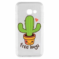 Чехол для Samsung A3 2017 Free Hugs Cactus